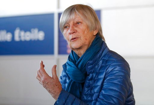 (AP Photo/Michel Euler). Catherine Bonnet, French child psychiatrist and a member of the Pontifical Commission for the Protection of Minors, gestures as she speaks during an interview with the Associated Press at Charles de Gaulle airport outside Paris...
