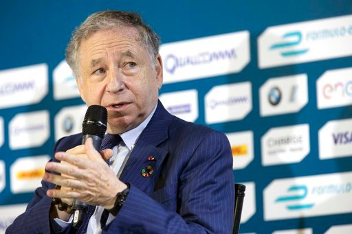 """(AP Photo/Mary Altaffer, File). FILE - In this  Friday, July 14, 2017 file photo, FIA President Jean Todt speaks during a news conference in the Brooklyn borough of New York New York. """"Grid kids"""" are replacing """"grid girls"""" in Formula One as the motorsp..."""