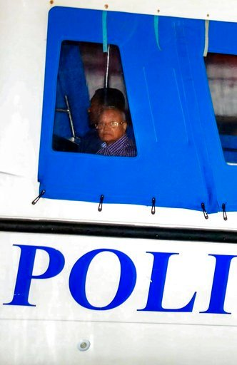 (AP Photo/Mohamed Sharuhaan). Former Maldives president and opposition leader Maumoon Abdul Gayoom is being taken to prison by police after the government declared a 15-day state of emergency in Male, Maldives, early Tuesday, Feb. 6, 2018. The Maldives...