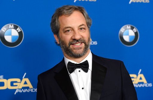 (Photo by Chris Pizzello/Invision/AP). Judd Apatow arrives at the 70th annual Directors Guild of America Awards at The Beverly Hilton hotel on Saturday, Feb. 3, 2018, in Beverly Hills, Calif.