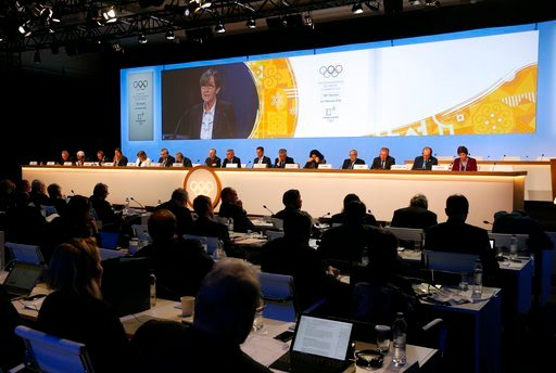 (AP Photo/Patrick Semansky). Members of the International Olympic Committee participate in the 132nd IOC Session prior to the 2018 Winter Olympics in Pyeongchang, South Korea, Tuesday, Feb. 6, 2018.