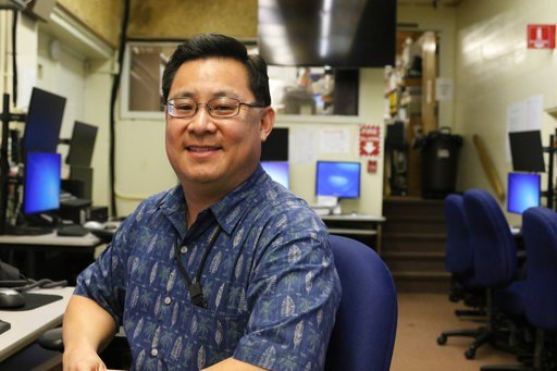 (AP Photo/Jennifer Sinco Kelleher). In this Feb. 1, 2018 photo, Jeffrey Wong, current operations officer for the Hawaii Emergency Management Agency, poses for a photo in Honolulu. He filed a police report after seeing threatening comments online from p...
