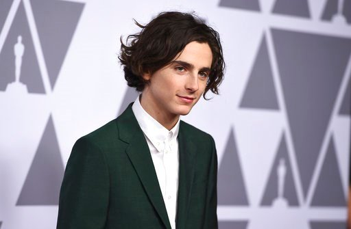 (Photo by Jordan Strauss/Invision/AP). Timothee Chalamet arrives at the 90th Academy Awards Nominees Luncheon at The Beverly Hilton hotel on Monday, Feb. 5, 2018, in Beverly Hills, Calif.