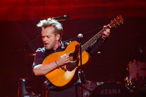 (Photo by Al Wagner/Invision/AP, File). FILE - In this Thursday, April 6, 2017, file photo, John Mellencamp performs at a concert at Bridgestone Arena in Nashville, Tenn. The 2018 Songwriters Hall of Fame class will include Mellencamp, Alan Jackson, Ko...