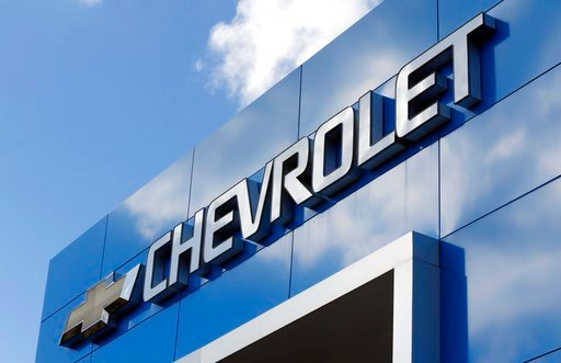 (AP Photo/Steve Helber). This Wednesday, April 26, 2017, photo shows a Chevrolet sign at a Chevrolet dealership in Richmond, Va. General Motors Co. reports earnings, Tuesday, Feb. 6, 2018. '
