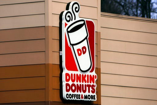 (AP Photo/Gene J. Puskar). This Monday, Jan. 22, 2018, photo shows the Dunkin' Donuts sign on a shop in Mount Lebanon, Pa. Dunkin' Brands Group, Inc. reports earnings, Tuesday, Feb. 6.