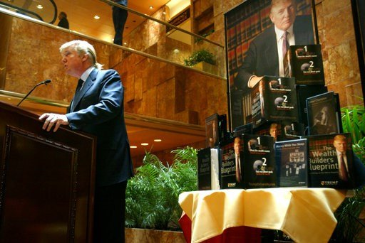 (AP Photo/Bebeto Matthews,File). In this Monday May 23, 2005 file photo Donald Trump speaks at a press conference in New York to announce the establishment of Trump University. A federal appeals court has upheld an agreement requiring President Donald ...