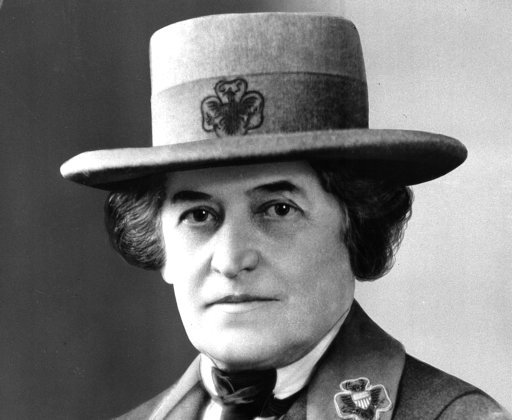 (AP Photo/File). FILE - This undated file photo shows Juliette Gordon Low, of Savannah, Ga., who founded the U.S. Girl Scout movement in 1912. Hundreds of Girl Scouts are expected to gather in the Georgia Capitol, Tuesday, Feb. 6, 2018, offering milk a...