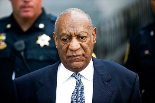 (AP Photo/Matt Rourke, File). FILE - In this Aug. 22, 2017, file photo, Bill Cosby leaves Montgomery County Courthouse after a hearing in his sexual assault case in Norristown, Pa. Cosby's lawyers said in a court filing Tuesday that they'll seek a dela...