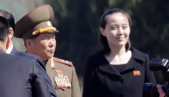 South Korea says the sister of North Korean leader Kim Jong Un will be part of the high-level delegation coming to the South for the Pyeongchang Winter Olympics. (Source: Wong Maye-E/AP)