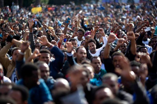(AP Photo/Ariel Schalit, File). FILE - In this Jan. 5, 2014 file photo, African migrants chant slogans during a protest in Rabin Square in Tel Aviv, Israel. On Sunday, Feb. 4, 2018, Israeli authorities began distributing deportation notices to thousand...