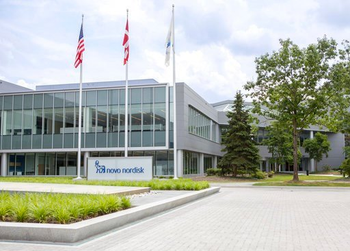(Novo Nordisk via AP). This undated photo provided by Novo Nordisk, Inc., shows the North American headquarters for Novo Nordisk in Plainsboro, N.J. Preliminary research published Dec. 21, 2017, in the Journal of Diabetes Science and Technology, sugges...