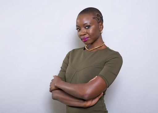 """(Photo by Willy Sanjuan/Invision/AP). In this Jan. 30, 2018 file photo, Danai Gurira poses for a portrait at the """"Black Panther"""" press junket at the Montage Beverly Hills in Beverly Hills, Calif."""