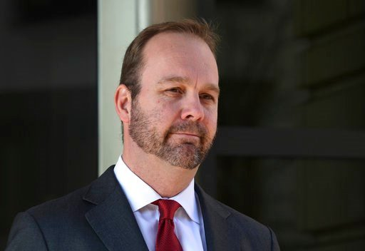 (AP Photo/Susan Walsh, File). FILE - In this Dec. 11, 2017, file photo, Rick Gates, departs federal court in Washington. Lawyers for Gates, one of the four people charged in special counsel Robert Mueller's Russia investigation, have asked to withdraw ...