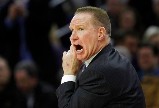 (AP Photo/Laurence Kesterson). St. John's coach Chris Mullin shouts from the sideline during the first half of the team's NCAA college basketball game against Villanova, Wednesday, Feb. 7, 2018, in Philadelphia.