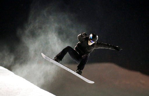 (Jeff McIntosh/The Canadian Press via AP, File). FILE - In this Jan. 6, 2016, file photo, two-time Olympic snowboarder Shaun White trains at Canada Olympic Park in Calgary, Alberta.  White says he is working on the tricks that Japan's Ayumu Hirano used...