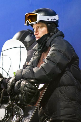 (Anna Stonehouse /The Aspen Times via AP, File). FILE - In this Jan. 24, 2018, file photo, U.S. halfpipe snowboarder Shaun White waits to take a practice run at the Winter X Games in Aspen, Colo. White says he is working on the tricks that Japan's Ayum...