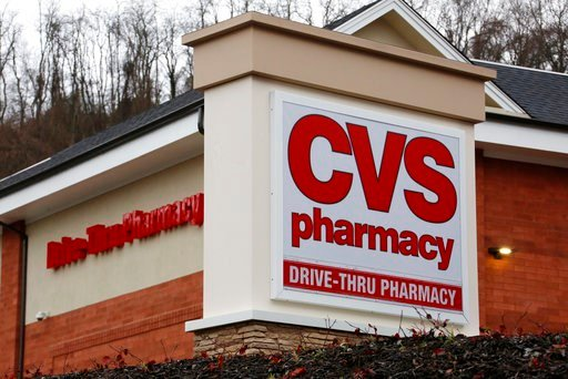 (AP Photo/Gene J. Puskar, File). FILE - This Jan. 18, 2017, file photo shows a CVS Pharmacy in Pittsburgh. CVS Health Corp. reports earnings, Thursday, Feb. 8, 2018.