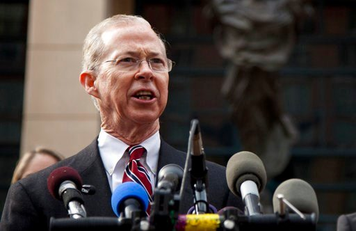 (AP Photo/Evan Vucci, File). FILE - In this Jan. 26, 2012 file photo, Dana Boente, then First Assistant U.S. Attorney for the Eastern District of Virginia, speaks outside federal court in Alexandria, Va.  Boenete, an understated career federal prosecut...