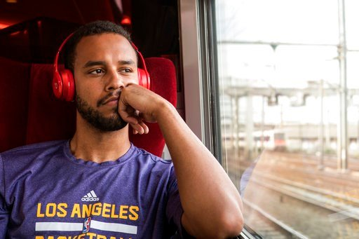 "(Warner Bros. Pictures via AP). This image released by Warner Bros. Pictures shows Anthony Sadler in a scene from ""The 15:17"" To Paris."""