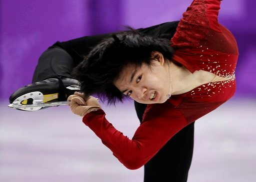 (AP Photo/David J. Phillip). South Korea's Cha Junhwhan performs in the men's single short program team event at the 2018 Winter Olympics in Gangneung, South Korea, Friday, Feb. 9, 2018.