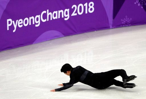 (AP Photo/Julie Jacobson). United States' Nathan Chen performs in the men's single short program team event at the 2018 Winter Olympics in Gangneung, South Korea, Friday, Feb. 9, 2018.