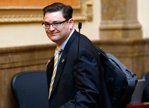 (AP Photo/Rick Bowmer). In this Monday, Jan. 22, 2018, photo, Republican Utah lawmaker Jon Stanard is shown on the House floor at the Utah State Capitol in Salt Lake City. Stanard has unexpectedly resigned from the Legislature. House Speaker Greg Hughe...