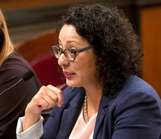 (AP Photo/Rich Pedroncelli, File). FILE - In this June 22, 2016 file photo, Assemblywoman Cristina Garcia, D- Bell Gardens, speaks at the Capitol in Sacramento, Calif. Garcia, the head of California's legislative women's caucus and a leading figure in ...