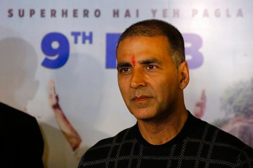 "(AP Photo/Ajit Solanki, File). File - In this Feb. 9, 2018, file photo, Bollywood actor Akshay Kumar attends a press conference to promote his upcoming movie ""Pad Man"" in Ahmadabad, India."