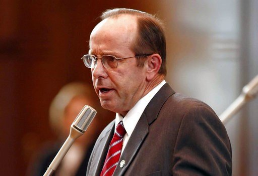 (Timothy J. Gonzalez/Statesman-Journal via AP, File). FILE - In this Feb. 14, 2012, file photo, Sen. Jeff Kruse, R-Roseburg, speaks at the Capitol in Salem, Ore. Kruse not only subjected two female senators to unwanted touching, he groped or gave linge...