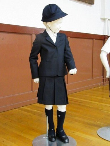 (Taimei Elementary School via AP). This undated photo provided by Taimei Elementary School shows new school uniform designed by Italian brand Armani.  The Tokyo public school has adopted expensive Giorgio Armani uniforms for students, triggering critic...