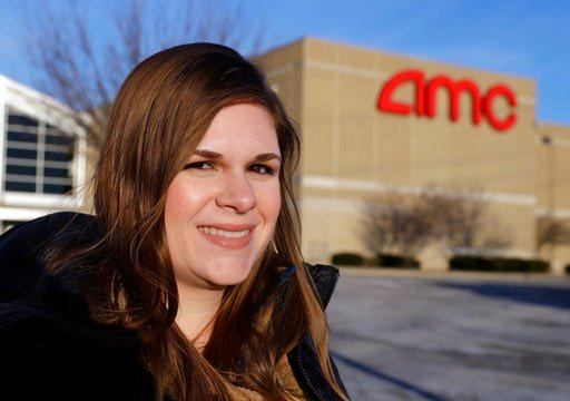 (AP Photo/Darron Cummings). In this Jan. 30 photo, Cassie Langdon stands outside of AMC Indianapolis 17 theatre in Indianapolis. With MoviePass, Langdon said she's taking more chances on smaller releases instead of sticking with blockbusters.
