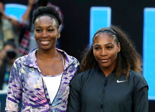 (AP Photo/Aaron Favila, File). FILE - In this Jan. 28, 2017, file photo, Venus, left, and Serena Williams pose ahead of the women's singles final at the Australian Open tennis championships in Melbourne, Australia. Five months after becoming a mother, ...