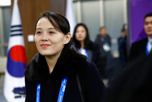(AP Photo/Patrick Semansky, Pool). Kim Yo Jong, sister of North Korean leader Kim Jong Un, arrives at the opening ceremony of the 2018 Winter Olympics in Pyeongchang, South Korea, Friday, Feb. 9, 2018.
