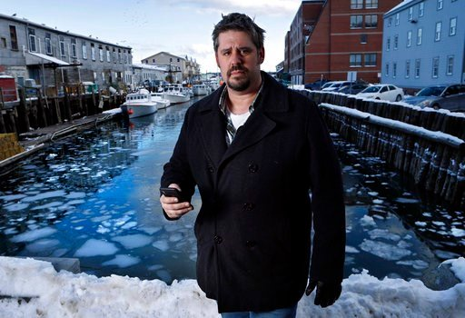 "(AP Photo/Robert F. Bukaty). In this Thursday, Feb. 8, 2018 photo Jeremy DaRos, who received an erroneous tsunami alert on his phone, poses on the waterfront in Portland, Maine. ""People need to trust the alerts they're pushing out,"" he said. ""This is i..."
