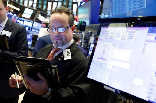 (AP Photo/Richard Drew). Trader Robert Arciero works on the floor of the New York Stock Exchange, Friday, Feb. 9, 2018. Wall Street capped a day of wild swings Friday with a late-afternoon rally that reversed steep early losses and sent the Dow Jones i...