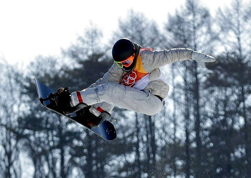 (AP Photo/Gregory Bull). RedGerard, of the United States, jumps during the men's slopestyle final at Phoenix Snow Park at the 2018 Winter Olympics in Pyeongchang, South Korea, Sunday, Feb. 11, 2018.