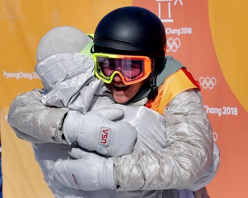 (AP Photo/Lee Jin-man). RedGerard, of the United States, celebrates after winning gold in the men's slopestyle final at Phoenix Snow Park at the 2018 Winter Olympics in Pyeongchang, South Korea, Sunday, Feb. 11, 2018.