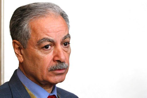 (AP Photo/Jon Gambrell). Mustafa al-Hiti, the head of the Iraq's reconstruction fund for areas affected by terroristic operations, speaks to The Associated Press in Kuwait City, Kuwait, Monday, Feb. 12, 2018. Kuwait this week is hosting a series of con...