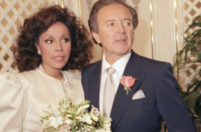 Diahann Carroll weds Vic Damone at Golden Nugget Hotel Casino in Atlantic City, New Jersey on Jan. 3, 1987. (AP Photo/Scott Stetzer)