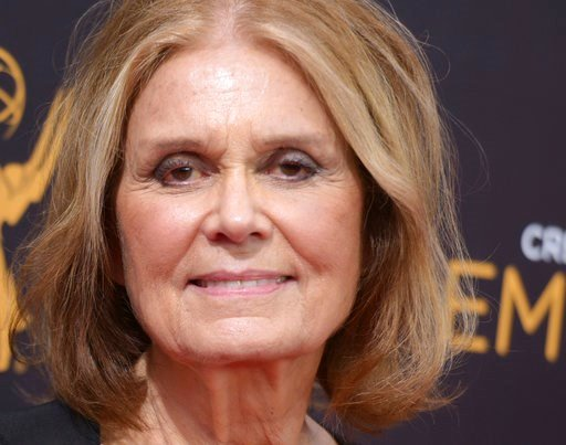(Photo by Richard Shotwell/Invision/AP, File). FILE - In this Sept. 11, 2016 file photo, Gloria Steinem arrives at night two of the Creative Arts Emmy Awards at the Microsoft Theater in Los Angeles. Steinem is weighing in to try to save the last aborti...