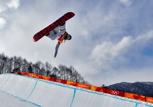 (AP Photo/Kin Cheung). ChloeKim, of the United States, runs the course during the women's halfpipe qualifying at Phoenix Snow Park at the 2018 Winter Olympics in Pyeongchang, South Korea, Monday, Feb. 12, 2018.