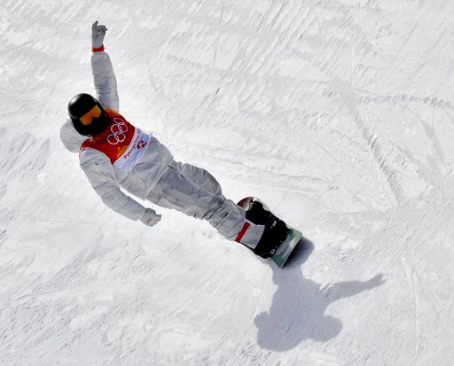 (AP Photo/Lee Jin-man). Shaun White, of the United States, finishes his run during the men's halfpipe qualifying at Phoenix Snow Park at the 2018 Winter Olympics in Pyeongchang, South Korea, Tuesday, Feb. 13, 2018.