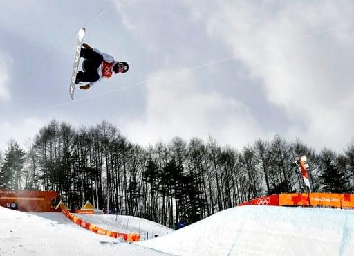 (AP Photo/Kin Cheung). Ayumu Hirano, of Japan, jumps during the men's halfpipe qualifying at Phoenix Snow Park at the 2018 Winter Olympics in Pyeongchang, South Korea, Tuesday, Feb. 13, 2018.