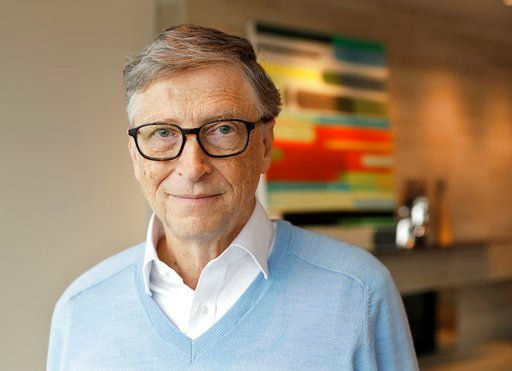 (AP Photo/Ted S. Warren). In this Feb. 1, 2018 photo, Microsoft co-founder Bill Gates, with his wife Melinda, poses for a photo before an interview with The Associated Press in Kirkland, Wash. The Gateses, as the world's top philanthropists, are rethin...