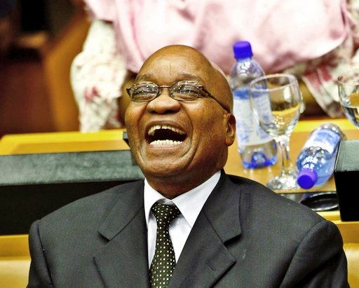 (AP Photo/Nic Bothma, Pool, File). FILE -- In this May 6, 2009, file photo, President elect Jacob Zuma reacts after the swearing in of members of Parliament in Cape Town, South Africa. Leaders of South Africa's ruling ANC party are struggling to remove...