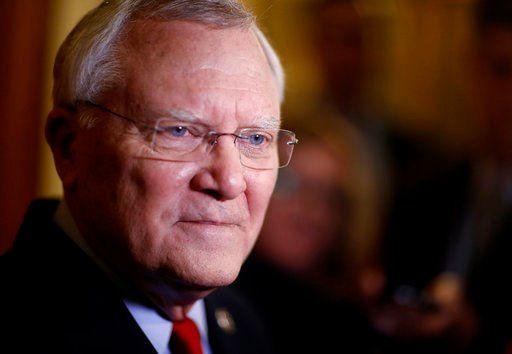 (AP Photo/David Goldman). FILE - In this Jan. 11, 2018 file photo, Georgia Gov. Nathan Deal talks to reporters after delivering the State of the State address at the state Capitol in Atlanta. With Atlanta among the 20 cities still being considered for ...