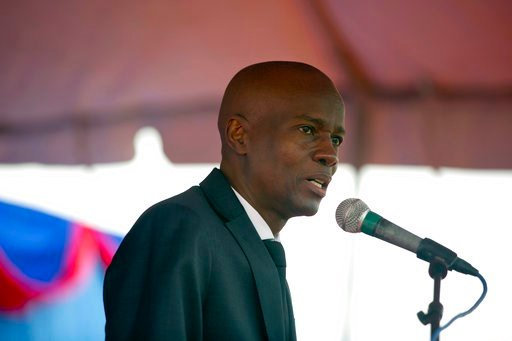 (AP Photo/Dieu Nalio Chery, file). FILE - In this Friday, Jan. 12, 2018 file photo, Haiti's president Jovenel Moise talks during a ceremony on the 8th anniversary of the 2010 earthquake, in Port-au-Prince, Haiti. Haiti's president has condemned Oxfam f...