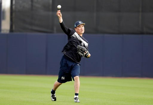 (AP Photo/Lynne Sladky). New York Yankees starting pitcher Masahiro Tanaka, of Japan, throws during baseball spring training, Tuesday, Feb. 13, 2018, in Tampa, Fla.