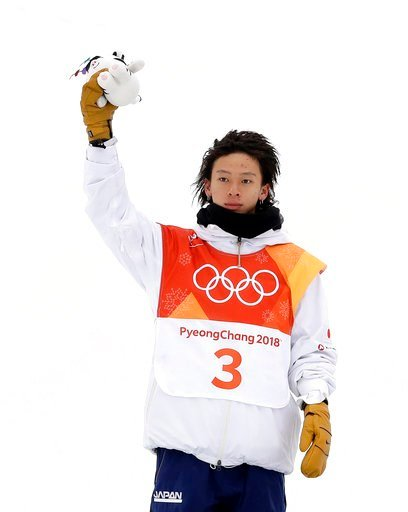 (AP Photo/Gregory Bull). Silver medal winner Ayumu Hirano, of Japan, celebrates after the men's halfpipe finals at Phoenix Snow Park at the 2018 Winter Olympics in Pyeongchang, South Korea, Wednesday, Feb. 14, 2018.